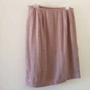 Ann Taylor mauve geometric wool skirt